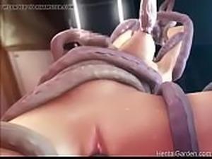 3D monster sex tentacles big boobs- Watch more on HentaiGarden.com