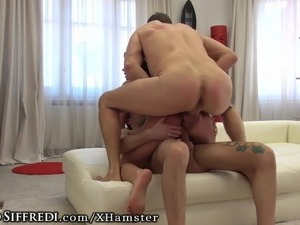 Nasty Lil' Slut getting DP'd by Rocco Siffredi and Friend