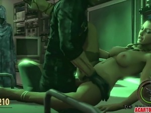 Sexy 3D MILF Excella Gionne gets fucked by big dicks