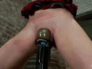 Kinky schoolgirl is having her first time BDSM experience