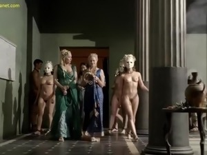 Katrina Law Nude Boobs And Bush In Spartacus ScandalPlanet