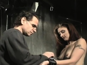 Sweetheart gets nipple-tortured in sadomasochism style scene