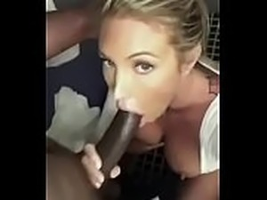 Sexy Blonde Nympho Loves Big Black Cock