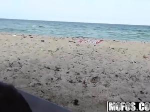 Chanel Rae and Alaina Kristar - Public Beach Bang in a Tent