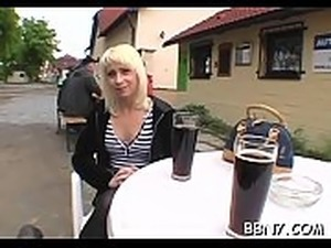 Agreeable playgirl is getting her cunt delighted in public