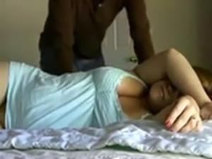 Sleeping chubby housewife gets penetrated