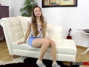 Pretty Russian babe Taissia Shanti anal casting