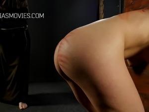 Little slut butt whipped