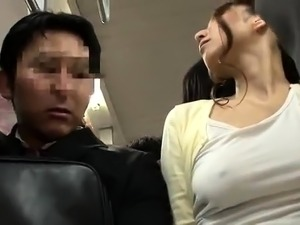 Hot Asian girl with big tits gets drilled in a public toilet