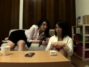 Delightful Japanese babes enjoy the pleasures of lesbian sex