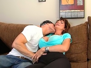 Busty mature woman Deauxma gets her big boobs worshipped by Johnny Sins