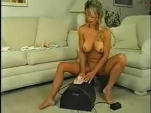 Big clit big pussy lips blonde milf fucks a sybian