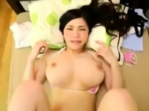 Hitomi Tanaka hot Asian milf with huge boobs in POV sex