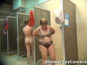 Spy camera captures random women having shower in public bath