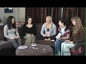 girls play strip cards
