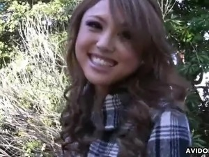 Ardent red haired hottie Rino Mizusawa is busy with fingering her wet pussy