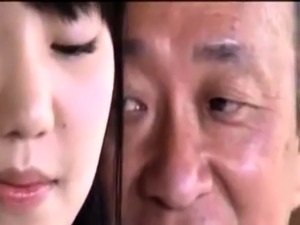 Beautiful Asian teen engages in hot sex with a horny old man