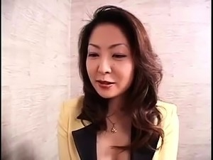 Stunning Japanese wife has a group of guys using her holes
