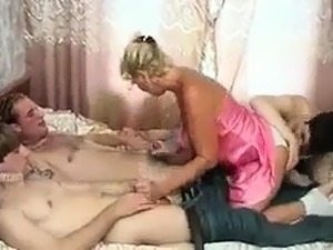 LustHD Hot Russian teen in an erotic European threesome
