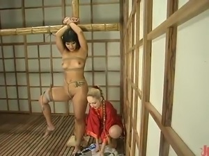 Thai DragonLily Tortured inside slavery vid By lesbie Blonde