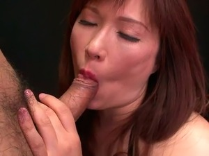 Mature Japanese mom Reiko Shimura fucks doggy style