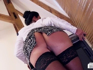 She is more than happy to feel a black shaft between her legs