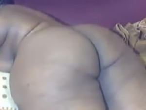 Chubby black with huge tits and huge booty