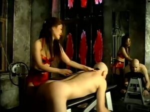 Dominatrix Mistress Alexa Playing with a Dude's Ass in Femdom
